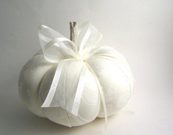زفاف - العاج الخريف أو سندريلا خاتم الزواج وسادة القرع