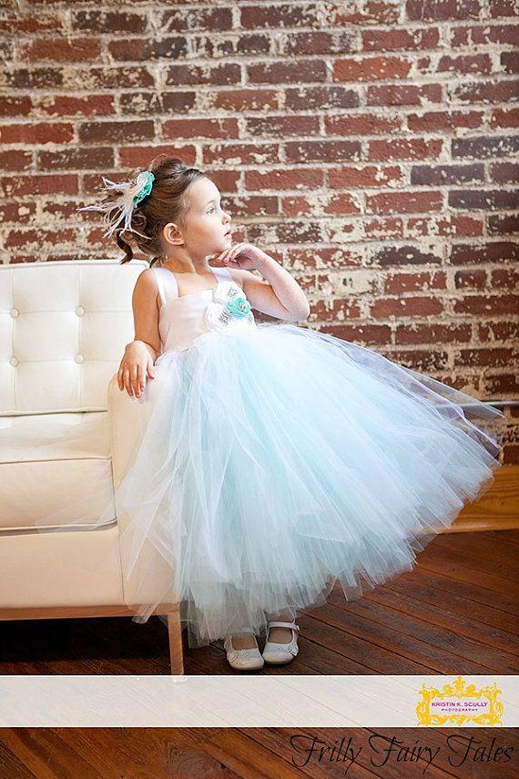Tiffany Blaue Hochzeits- - Tiffany-Blau Blumenmädchen Kleid #2127513 ...