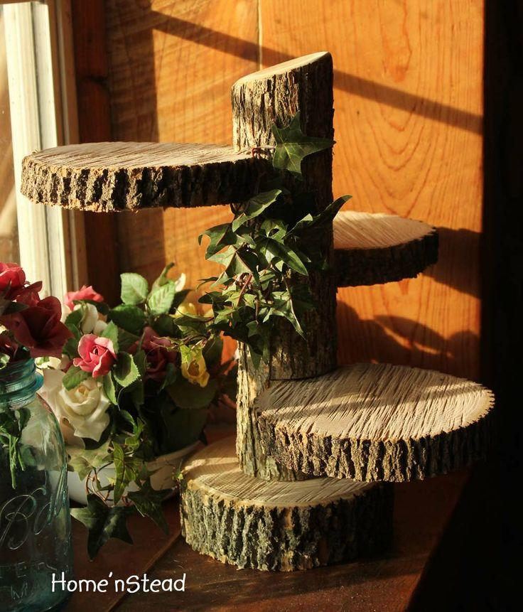 Wedding - Large 3-Tiered Rustic Wedding Decor Tree Mason Jar / Candle Stand Table Center Piece Cupcake Holder