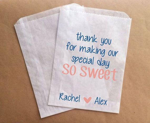 Custom Candy Buffet Bags For Wedding Sweet Special Day