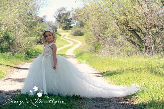 Elfenbein Hochzeit Ivory Blumenmadchen Kleid 2127958 Weddbook