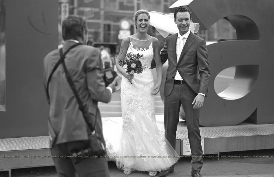 Wedding - A Joyful Moment During A Wedding Shoot