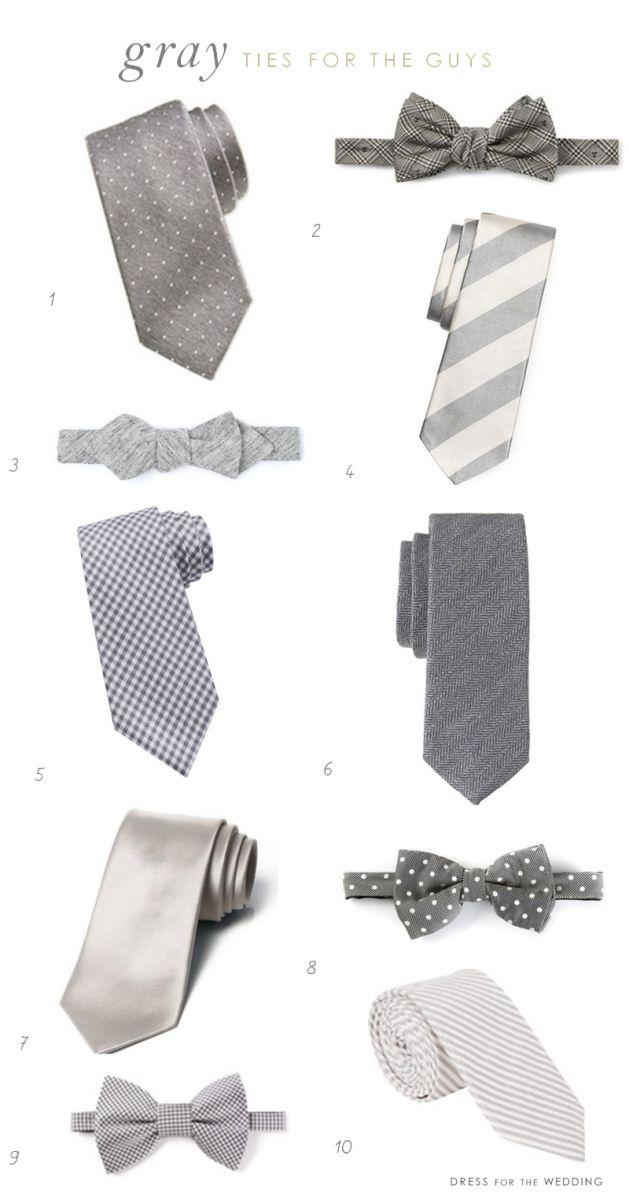 Mariage - Cravates gris pour garçons d'honneur