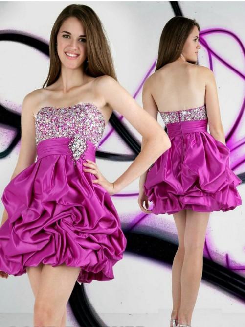 Свадьба - A-Line/Princess Sweetheart Beading Short/Mini Taffeta Cocktail Dresses