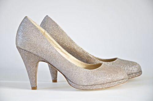 زفاف - الزفاف / وصيفة الشرف / أحذية السهرة وفضة وارتفع الذهب جلام بلورات (AVETTE)