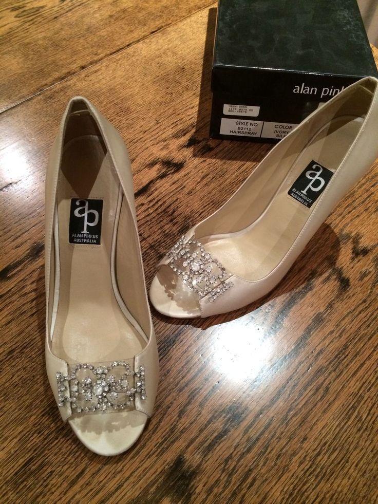 Boda - Alan Pinkus nupcial zapatos de noche - Tamaño 7.5 usado una vez