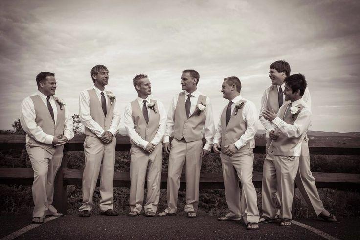 Hochzeit - Bräutigam Trauzeugen Fotos