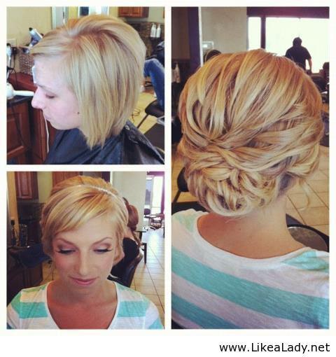 Свадебные прически для коротких волос своими руками