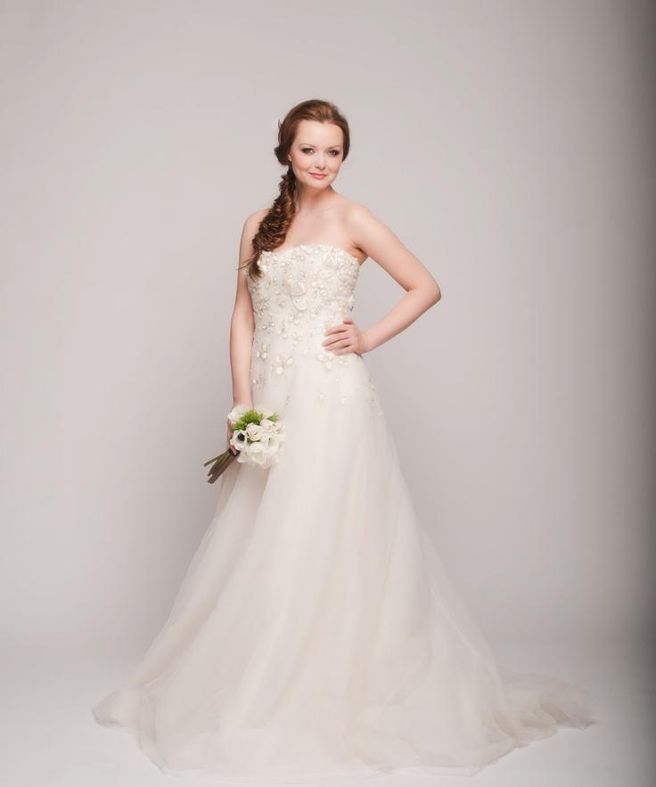 Reem Acra - Reem Acra \'Snowdrop\' A-Line Gown #2130388 - Weddbook