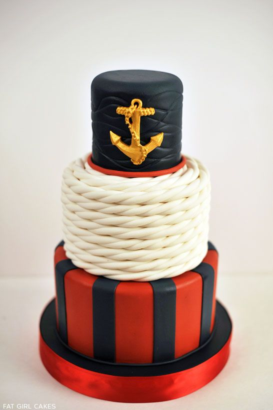 Wedding - Classic Nautical Cake