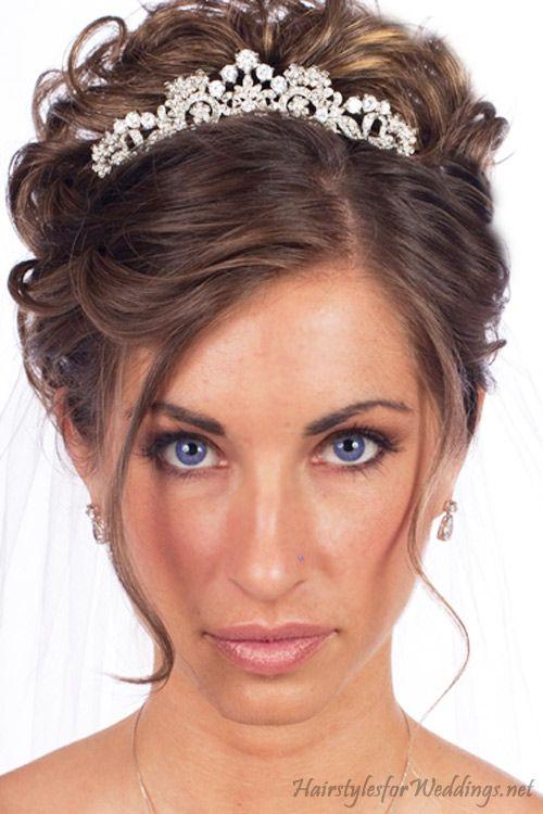 высокая свадебные прически с диадемой