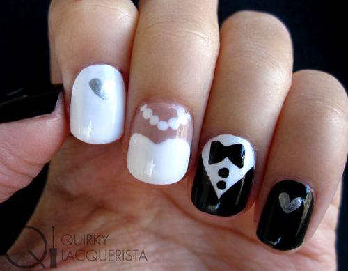 Bride And Groom Nail Art