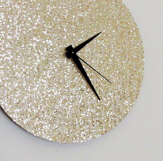 Einzigartige Wanduhr, Gold Glitter Uhr, Great Gatsby, Bauen Und