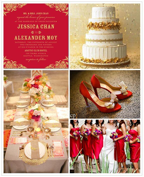 Oriental Wedding Bengalichinese Wedding Ideas 2132584 Weddbook