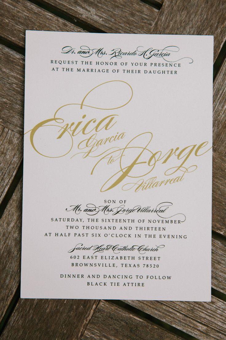 """Свадьба - Приглашение """" Бумажного Золота"""""""