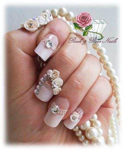 Hochzeit - Brauthochzeits-Nail Art