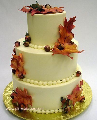 Herbst-Buttercreme-Hochzeitstorte »Fall Hochzeitstorten #2133258 ...