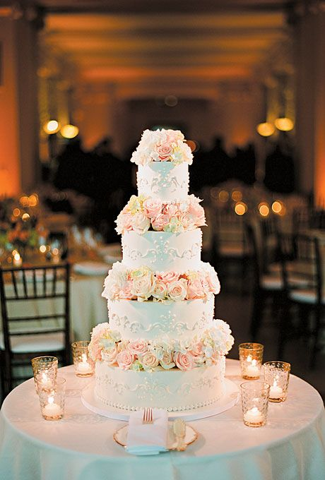 Wedding Cakes Wedding Cake With Pink Flowers 2133293 Weddbook