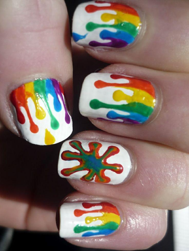 2 Amazing Rainbow Nail Art Tutorials – With Detailed Steps And ...