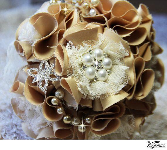 Hochzeits Brosche Bouquet Goldene Hochzeit Brautstrauss Schmuck