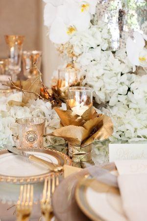 Wedding - Glamorous White   Gold Tabletop