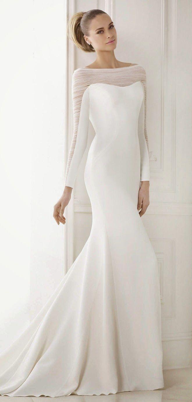 Brautkleider langarm – Mode Kleider von 2018