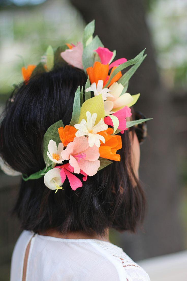 modern wedding - diy paper flower crown  2134987
