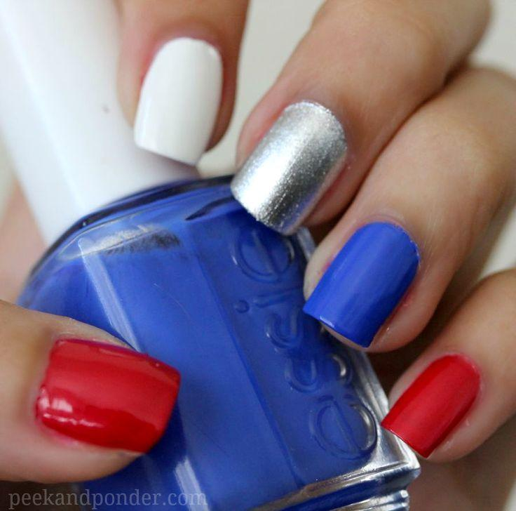 Wedding - How To: Fourth Of July Nails