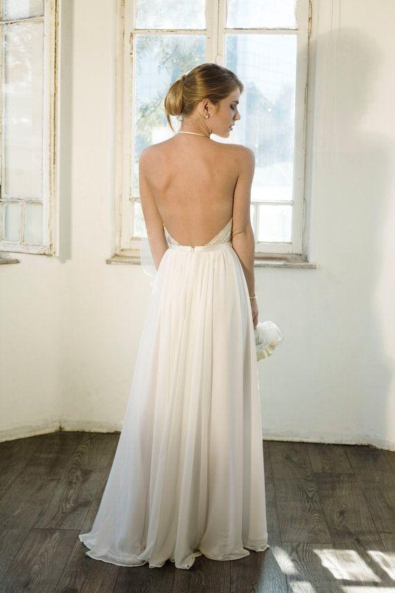 Custom Made Strandkleid Bodenlangen Chiffon-Hochzeitskleid, New ...