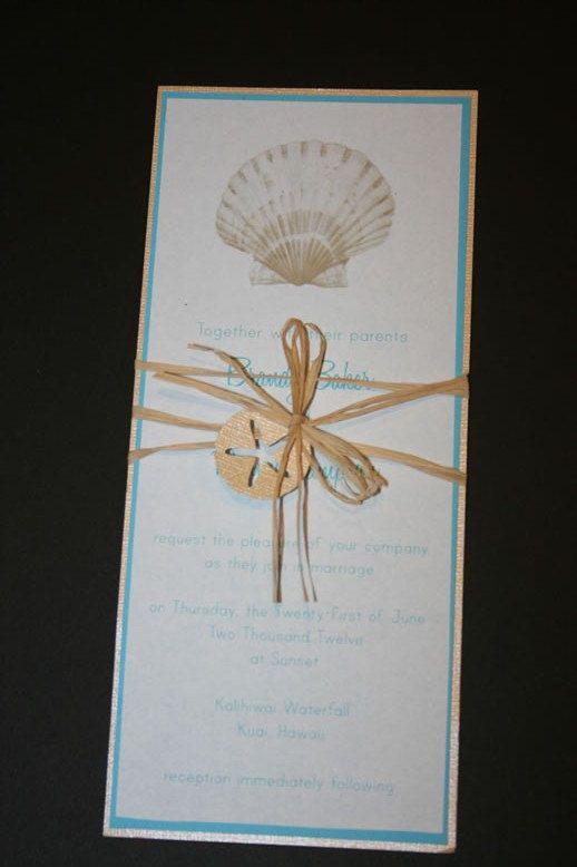 Wedding Theme Seashell Wedding Invitation 2135908 Weddbook