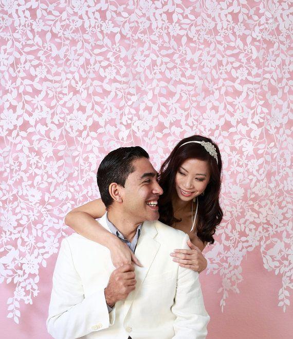 Hochzeit - Lace Felt Garland, Hochzeits-Hintergrund, Fotografie Zurück Tropfen, Hochzeitsdeko, Vorhang, Modern Home Decor, Nursery Decor
