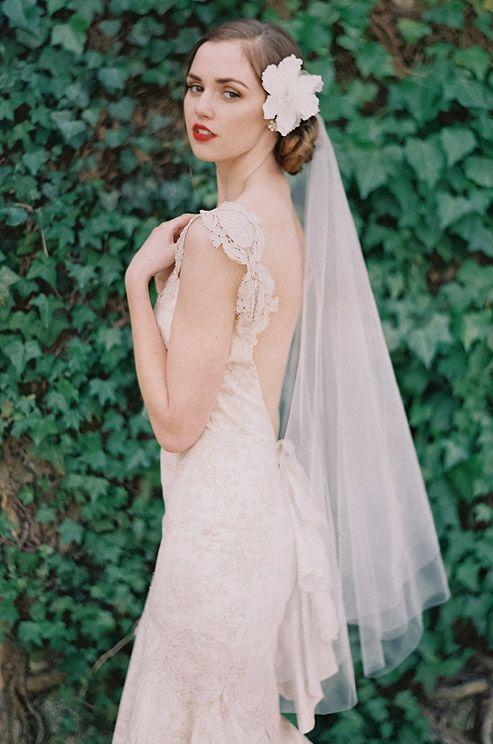 Mariage - Colette Fleur Avec Le Voile - Enchanted Atelier par Liv Hart
