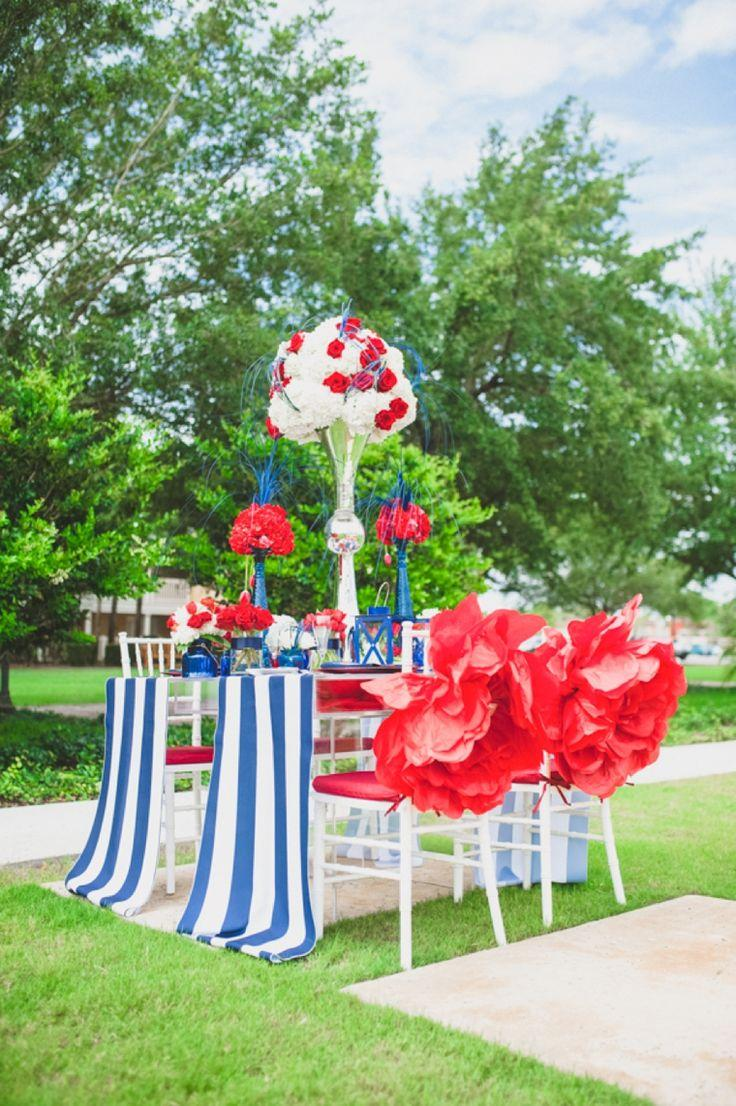 Mariage - Éclectique rouge, blanc et bleu Idées pour le mariage
