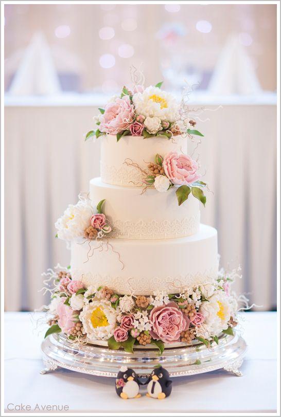 Hochzeit - Zucker Pfingstrosen u. englische Rosen