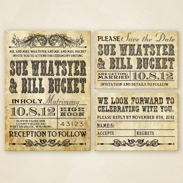 einladung - western-hochzeit einladung set printable #2138066, Einladung
