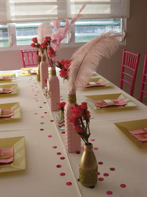 Rosa Gold Und Glitter Birthday Party Ideas 2138476 Weddbook