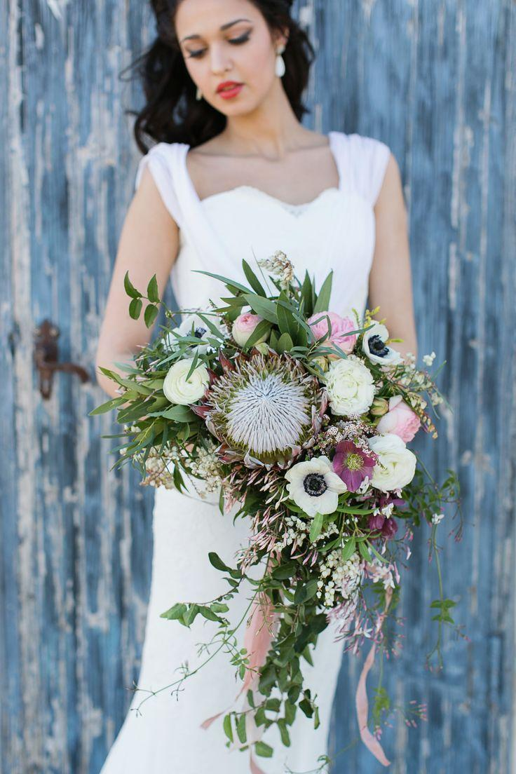 Wedding - Protea And Poppy Bouquet