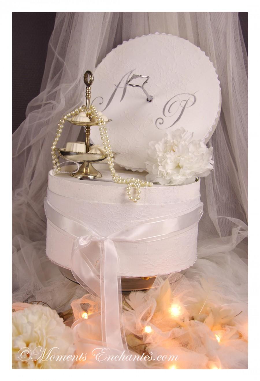 """Wedding - L'urne et le livre d'or """"Nuage de dentelle"""""""