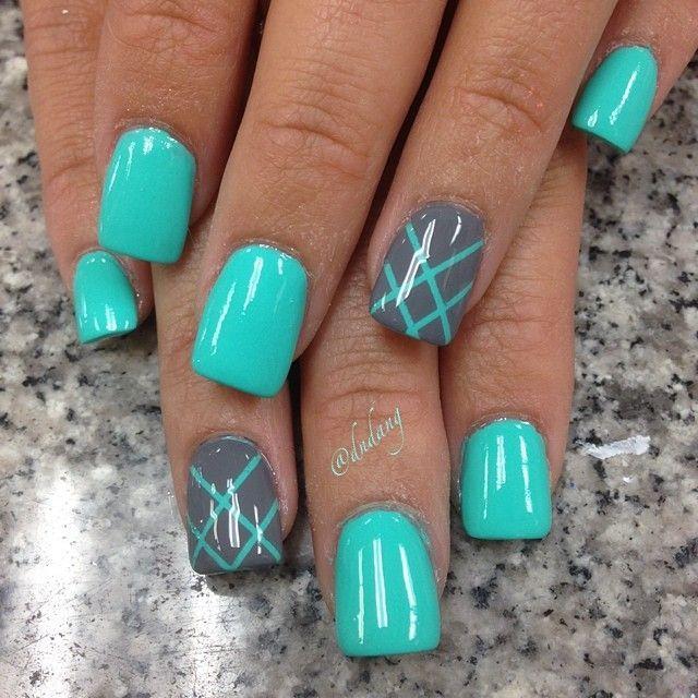 Дизайн ногтей бирюза фото