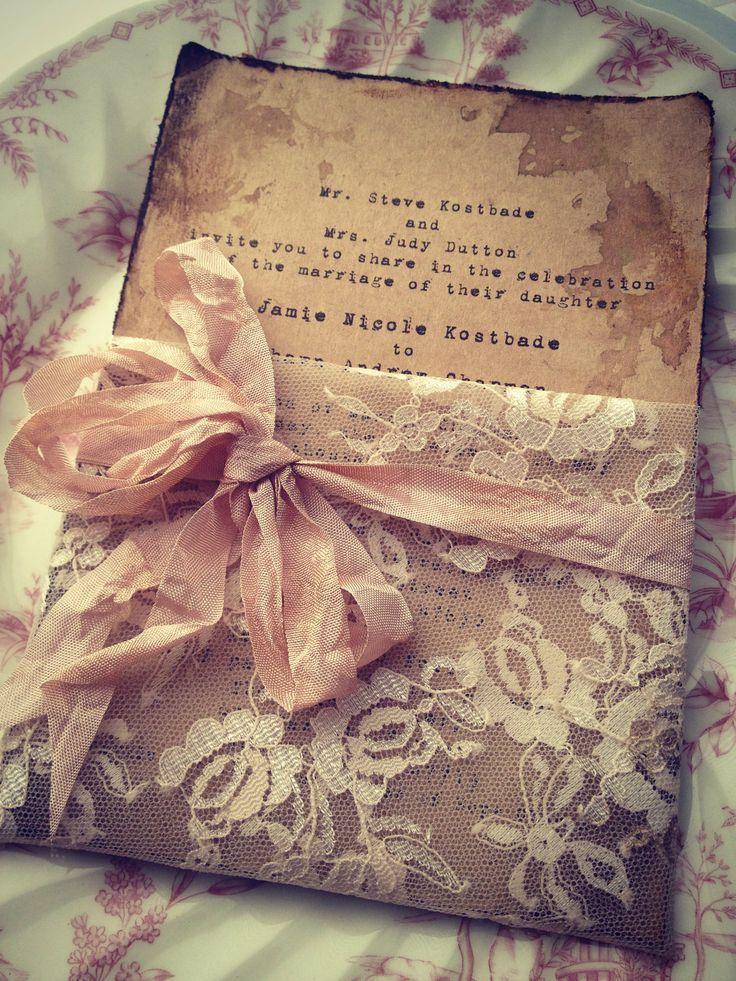 Spitze Einladung High End Handgemachte Hochzeit Brautparty