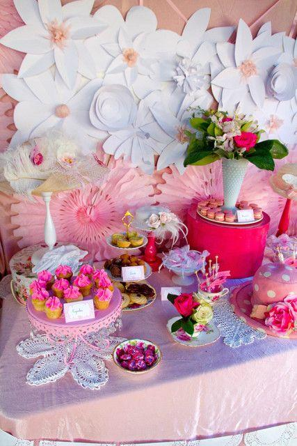high tea bridalwedding shower party ideas