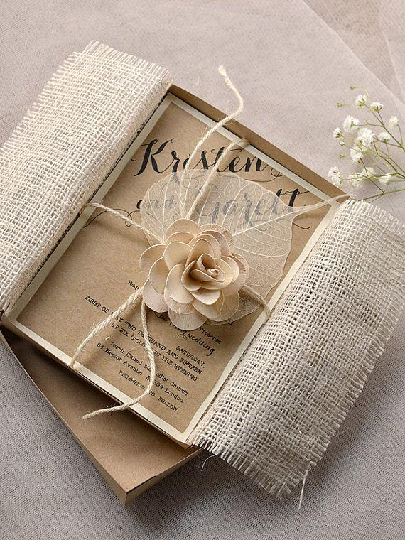 Custom Listing FOR CELENIA 15 Burlap Lace Wedding ...