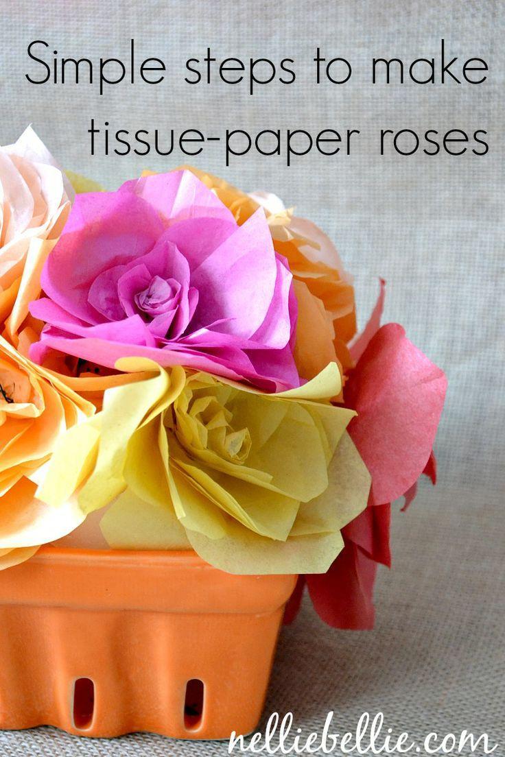 Hochzeit - Seidenpapier-Blumen.