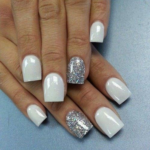 Дизайн белых ногтей фото
