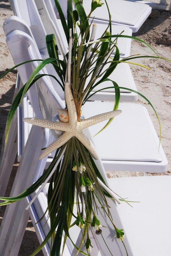 Strand Hochzeits Gang Stuhl Dekoration Strand Hochzeit Starfish Deko