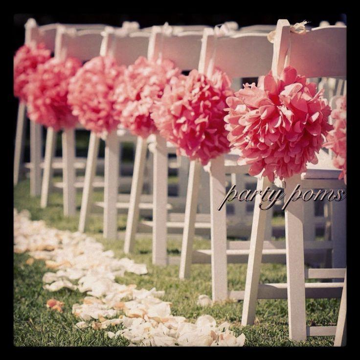 Hochzeits Zeremonie Dekoration Aisle Dekor 9 Zoll Tissue Poms