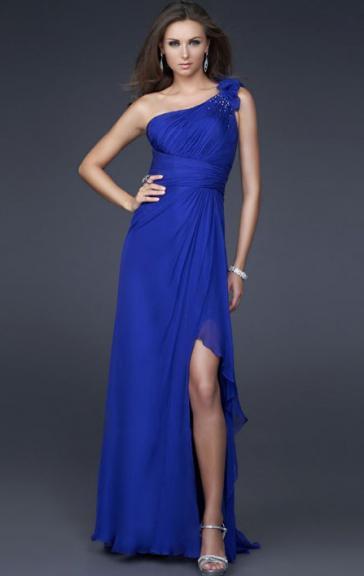 Robe soiree bleu roi