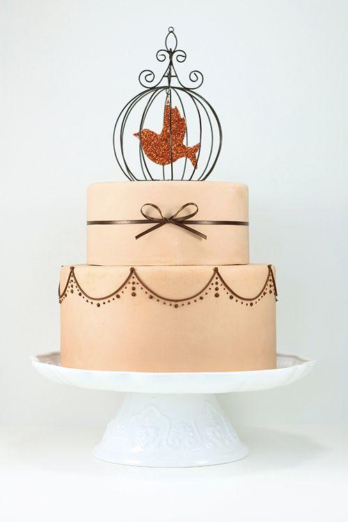 زفاف - عرائس خمر سوف الحب هذا الاتجاه: كعك الزفاف قفص العصافير
