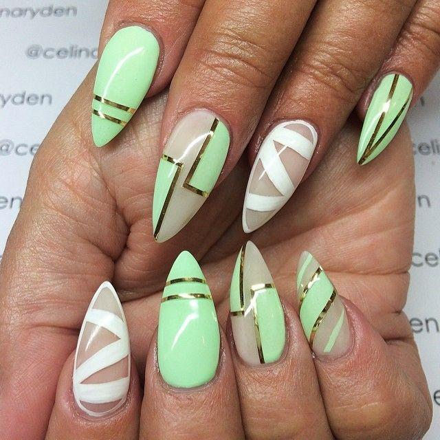 Дизайн острой формы ногтя