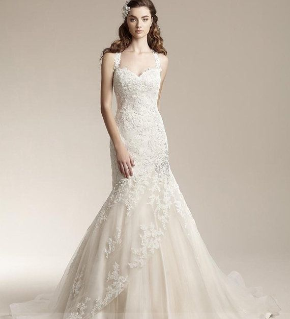 Wedding Dress Pure Handmade Bridal Ball Gown Lace Wedding Dress ...
